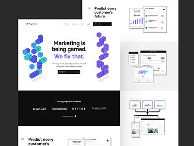 Programmai — Site Release website purple clean homepage ui ux together web web design saas app tech programmai branding isometric branding agency london agency