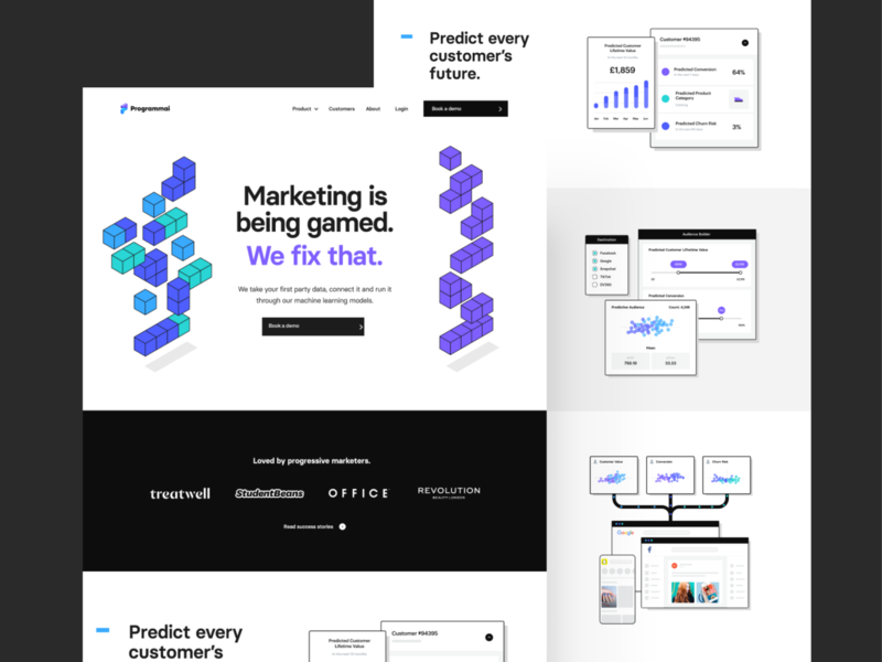 Programmai — Site Release website purple clean homepage ui ux together web web design saas app tech programmai branding isometric branding agency london agency