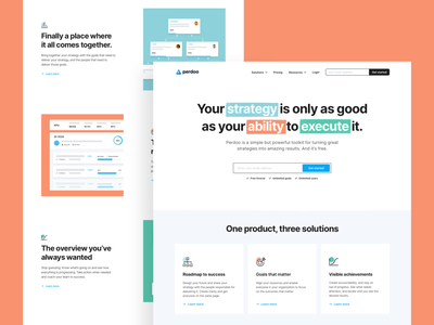 Perdoo — Hompage perdoo clean saas interface brand identity branding web design web ux ui homepage together