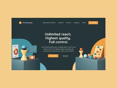 Hive — Homepage 3d art 3d web design web ux ui homepage together hive