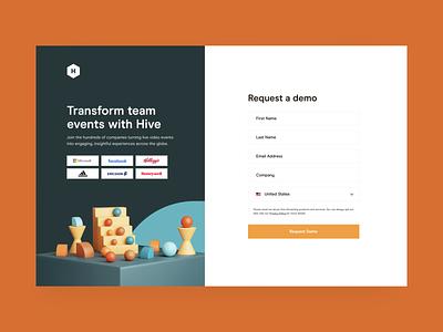Hive — Signup tech saas web design web uidesign ui signup hive together