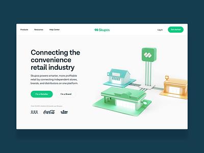 Skupos — Homepage saas web design ux ui skupos together