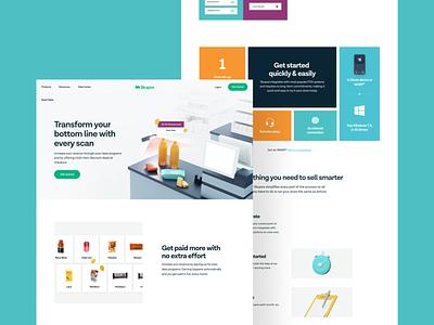 Skupos — Pages saas tech web design web ui ux skupos together