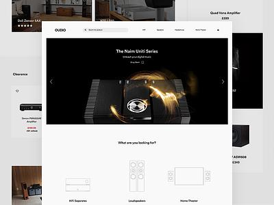 Audio eCommerce digital ux ui design web sound hifi audio