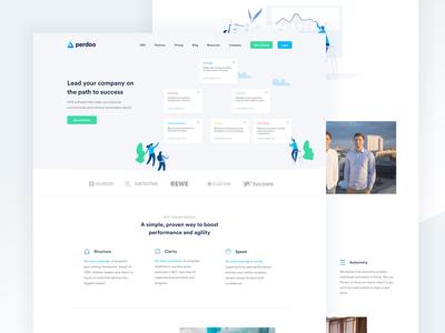 Perdoo Homepage Web Design