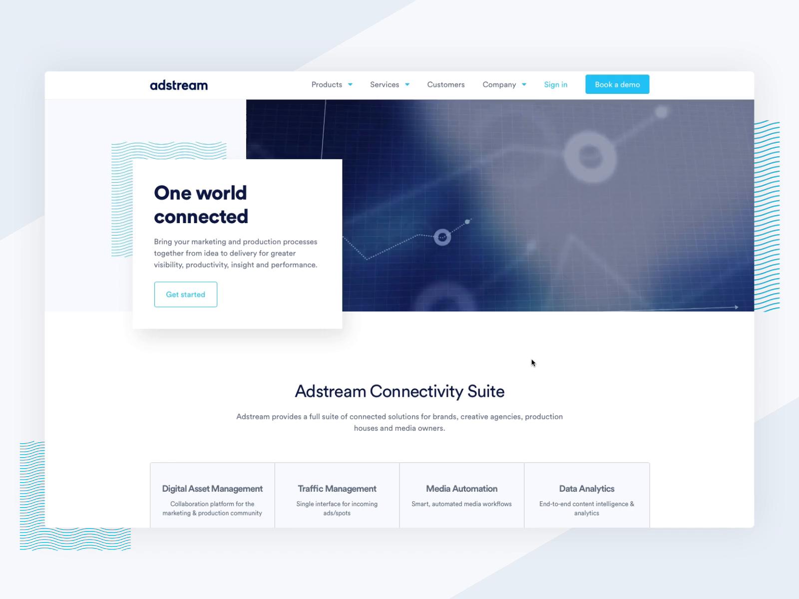 Adstream menu