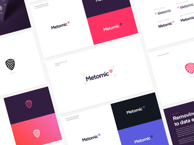 Metomic — Brand Exploration fingerprint shield logo brand website ui ux together saas tech marketing site designer user experience homepage privacy gdpr privacy automation security