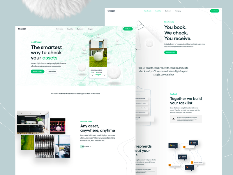 Shepper — Site Release ui ux homepage typography landing page web data together shepper product white illustration ux ui clean branding web design