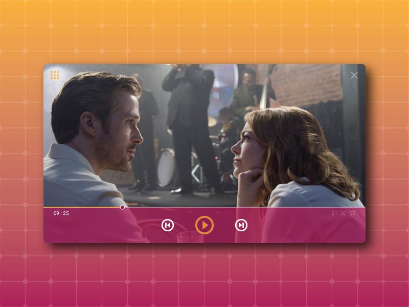 Daily Ui 57 - Video player web vector app design la la land video ux ui player movie dailyui