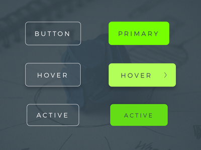 Button States atomic design button states website primary active hover buttons button