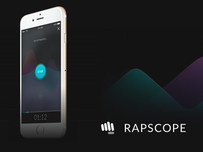 Rapscope - Recording Screen black player song singing sing waveform recorder sound audio music hip-hop rap
