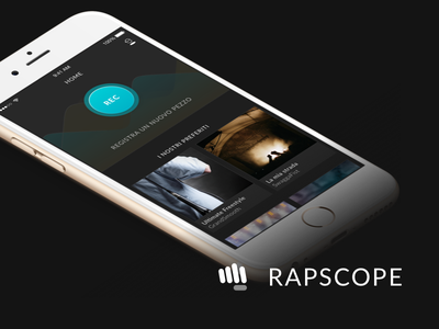 Rapscope - Home screen waveform sound song singing sing recorder rap player music hip-hop black audio