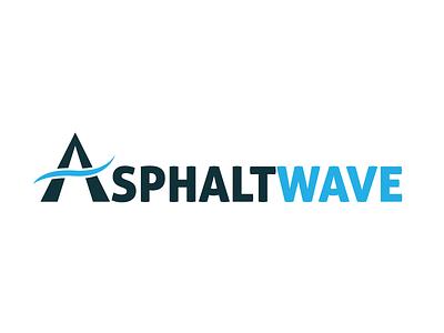 Asphalt Wave Logo longboard kahuna wave brand icon identity branding mark logo
