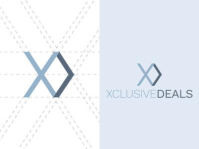 Xclusive Deals guides branding minimal flat clean logo xclusive deals