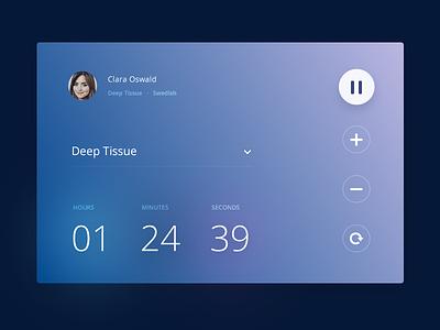 Countdown :: Daily UI - 014 ui daily app controls gradient card widget countdown 014