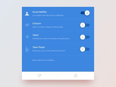 Toggle :: Daily UI - 015 form 015 icons list card blue ui daily toggle