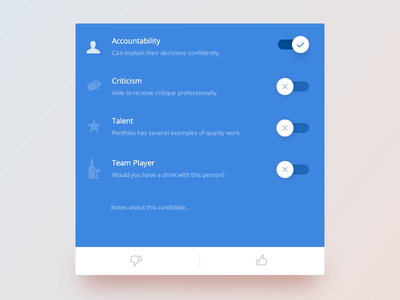 Toggle :: Daily UI - 015 form 015 icons list card blue ui daily toggle