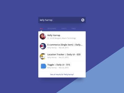 Search :: Daily UI - 022 filter dropdown search dribbble 022 ui daily