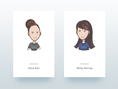 Team Avatars mobile person character vector face title card illustration avatar team