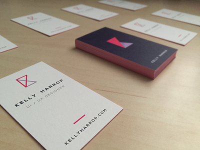 New Business Cards! mark brand logo identity business card print moo dark branding personal
