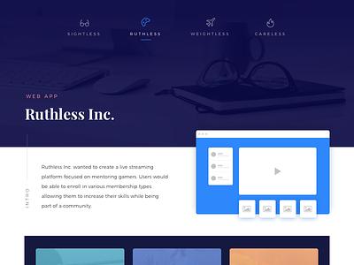 Case Studies vertical desktop portfolio website case study