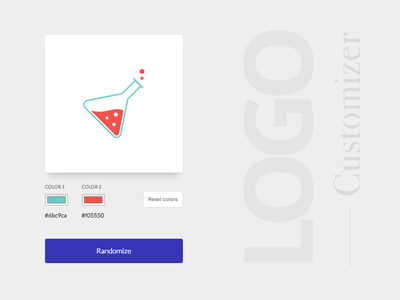 Logo Customizer material card development reactjs code logo svg