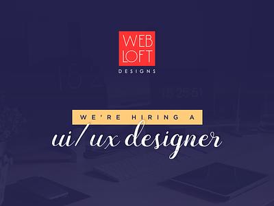 We're hiring! team ui job designer hiring