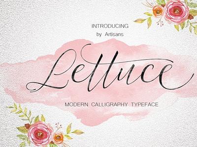 Lettuce wedding fonts