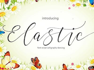 Elastic wedding fonts