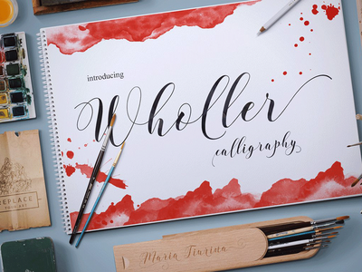 Wholler wedding fonts