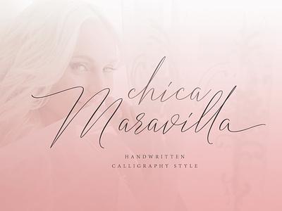 Chica-Maravilla wedding fonts