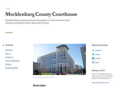 NC Judicial Branch - County Landing