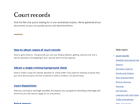 NC Judicial Branch - Help Topic Category Directory