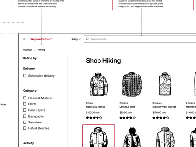E-Commerce B2B Subcategory Wireframe