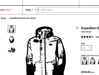 E-Commerce B2B Product Wireframe