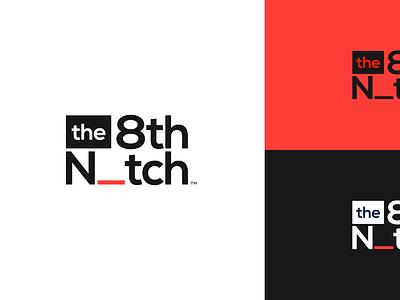 Brand Concept –The 8th Notch notch black orange minimal clean simple logo brand identity branding brand
