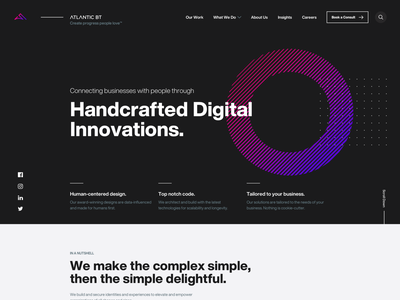 Agency Home Page services design home screen home page home agency dark colorful desktop flat simple minimal clean