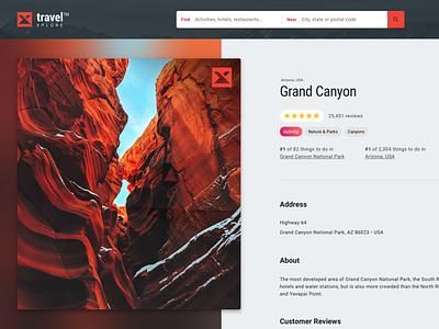 Trip Advising Web App –Place Detail rating reviews place location detail photo design web app colorful desktop modern flat simple minimal clean