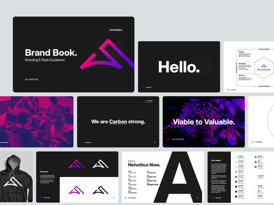Agency Brand Book pages colorful dark styleguide style documentation guidelines brand modern flat simple minimal clean