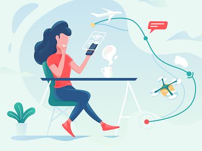 Moving Company - Leadership Team about illustrations leadership team colorful desktop modern flat simple minimal clean