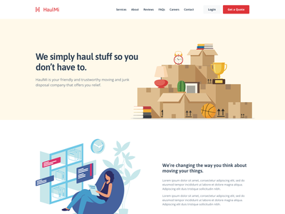 Moving Company - About colorful desktop modern flat simple minimal clean