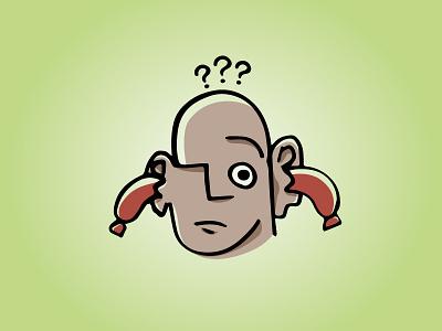 Häsch Schüblig i de Ohre? wurst muehlerama illustration schueblig sausage lg