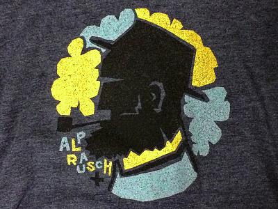 The Alpöhi melange navy heidi screenprint switzerland graphic alprausch collection print t-shirt design illustration