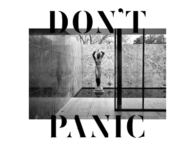 Don't Panic! template stencil luker typography font type femoralis lettering design