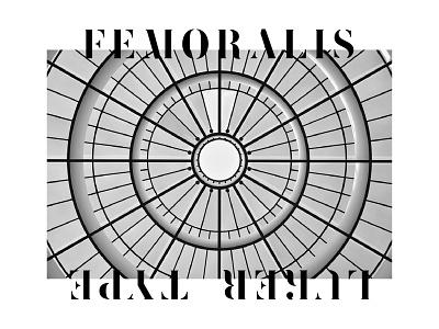 Femoralis by LukerType lt stencil font femoralis type luker design typography illustrator lg lettering