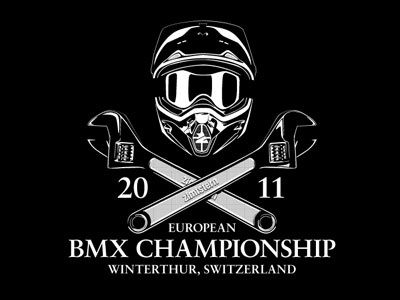 BMX Championship (black) european bmx t-shirt championship winterthur switzerland zimtstern black apparel
