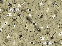 Idylwilde Flies Bandana Buff Print Pattern