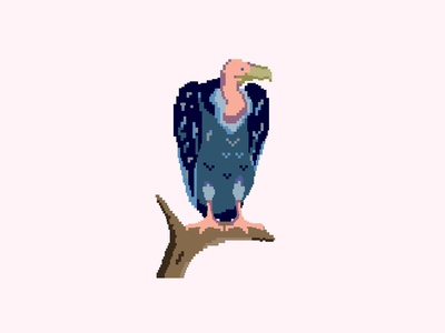 Pixelated Vulture