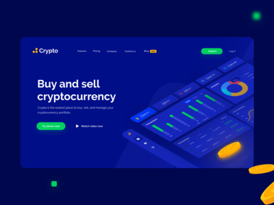 Cryptocurrency Wallet - Landing page