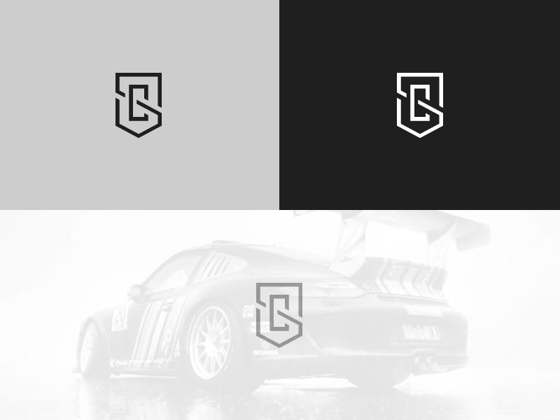 SC Monogram monogram logo mark brand racing crest cars